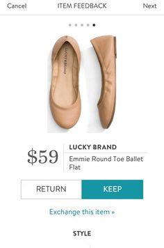 LUCKY BRAND Emmie Round Toe Ballet Flat from Stitch Fix. https://www.stitchfix.com/referral/4292370