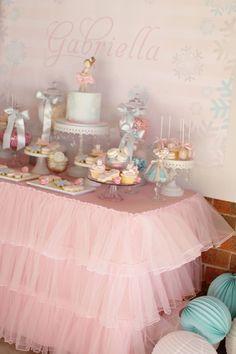 Little Wish Parties - Blog: Winter Wonderland Ballerina Partyby Sweet Bambini Event Styling