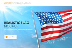 Flag Mockup by WebAndCat on @creativemarket
