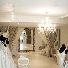 Bridal Boutique, Oversized Mirror, Curtains, Wedding Dresses, Furniture, Home Decor, Bride Dresses, Blinds, Bridal Gowns