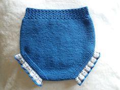 Ranita tejida en algodón azul