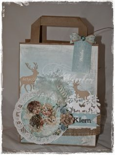 Gunns Papirpyssel gavepose, giftbag, jul, bag