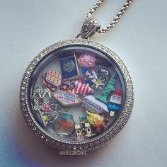 Legacy locket= big mama=I can fit all my favorite charms in her at once. melissakdavis.origamiowl.com #origamiowl #locket #big #charming #swarovski #pave #summer #love