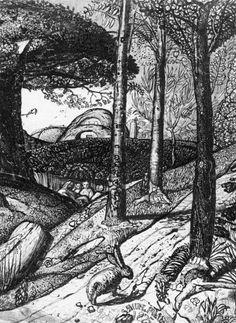 samuel palmer sketchbook of 1824 Landscape Drawings, Landscape Art, Art Drawings, Acrylic Portrait Painting, Surrealism Painting, English Artists, Witch Art, Soul Art, Gravure