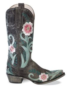 I am an admitted boot freak and I love the feminine, floral ones like these.