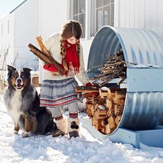 Corral firewood and kindling in an attractive storage shelter you can make using window wells and lumber.