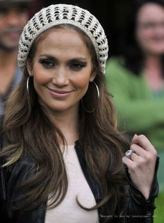 knit cap jennifer lopez