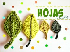 cómo hacer hojas a crochet, related videos and comments Crochet Puff Flower, Crochet Leaves, Crochet Flower Patterns, Crochet Doilies, Crochet Flowers, Crochet Hook Set, Love Crochet, Learn To Crochet, Easy Crochet