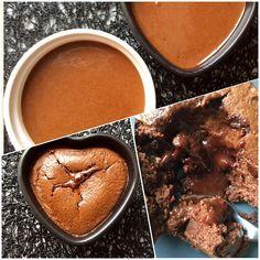 2 personnes :50 g fromage blanc 0% 2 œufs  125 g chocolat noir pâtissier 15 g maïzena 15 g de sucre une pincée de selMélangez les œufs entiers et le sucre jusqu'à ce que le mélange blanchisse un peu (peut être fait aussi qu'avec le blanc d'œuf) Puis ajoutez le fromage blanc, la maïzena, le sel, le chocolat fondu et bien mélanger.Beurrez ramequins ou graissez avec de l'huile erser un peu de la préparationajouter 1 carré de choc de votre choix et recouvrir avec le reste. 12 min dans un four à…