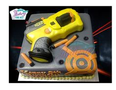 gun cake You are in the right place about Nerf Gun Cake template . You are in the right place abou Nerf Birthday Party, Nerf Party, Birthday Cakes, 11th Birthday, Birthday Ideas, Nerf Gun Cake, Call Of Duty Cakes, Gun Cakes, Games