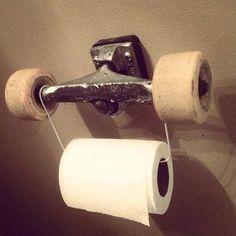skateboard toilet paper holder