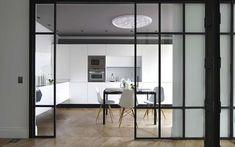 cerramiento de cocina con puerta de cristal corrediza Más