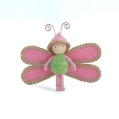 Tiny Dragonfly Pink n Green by dreamalittle7 on Etsy https://www.etsy.com/listing/228343995/tiny-dragonfly-pink-n-green
