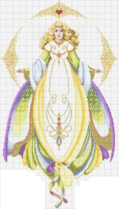 0 point de croix femme déesse  - cross stitch goddess