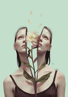 New Illustrations by Aykut Aydogdu Turkish illustrator Aykut Aydoğdu is one of those artists who's been frequently added to our illustration galleries over the years. Since we more or less have shown his pieces one by one, we've never… Surreal Artwork, 3d Artwork, Fantasy Artwork, Surreal Portraits, Artwork Ideas, Artwork Pictures, Art 3d, Art Inspo, Inspiration Art