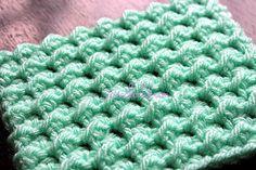 How to crochet the Moss Stitch, written instructions