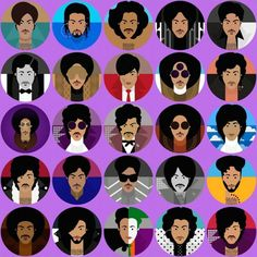 Prince face collage