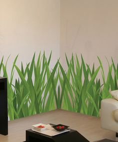 Grass Wall Decal Border Tall X Long Removable Vinyl - Vinyl wall decals borders