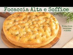 Thick and Soft Focaccia - Easy Recipe by Benedetta Focaccia Genovese Recipe, Pizza Rustica, Focaccia Pizza, Sicilian Recipes, Food Humor, Antipasto, Finger Foods, Buffet, Food And Drink