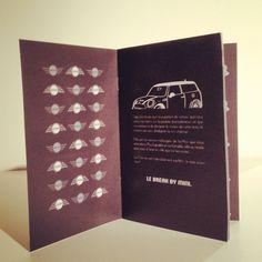 Brochure en bichromie pour la marque mini