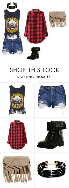 """Band Shirt"" by halainacarol on Polyvore featuring Topshop, Refresh, Accessorize and Forever 21"