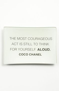 The most courageous act...