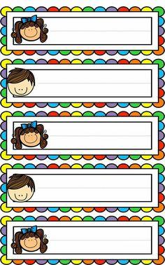 Badges for Kindergarten Children - Preschool Children Akctivitiys Classroom Labels, Classroom Rules, Classroom Organization, Classroom Decor, Preschool Classroom Jobs, Classroom Job Chart, Classroom Borders, School Border, School Frame