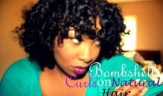 Bombshell Curls on Natural Hair  (Valentines Day Friendly)