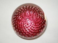 Extraordinary OPTICALLY Mesmerizing SIGNED Art Glass PAPERWEIGHT Complex DESIGNS