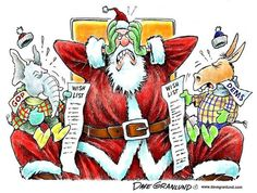 Republican and Democrat Christmas wish lists