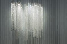 Euroluce 2015 Crystal Chandelier Manooi www.manooi.com #Manooi #Chandelier #CrystalChandelier #Design #Lighting #Euroluce #Voile