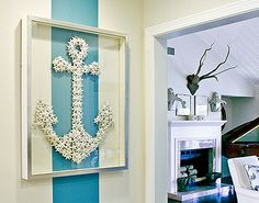An anchor made of starfish... perfect for a true beach lover!