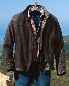 Men's Dusty Leather Bomber