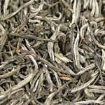 Silver Needles (China, 100% organic)  White tea has the lowest caffeine content per wheight of all teas. Ususally has a very light golden infusion and subtle taste. Nice teas to drink later in the day.  Clear, light gold infusion with a rich flavored body, unique savory aroma and a sweet mellow finish. Limited availability, havested in China!