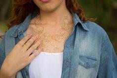 Colar de elos dourados - Lelulè - acessórios femininos