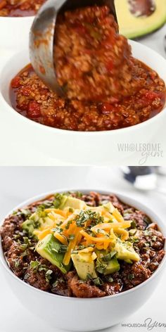Low Carb Chili Recipe, Chili Recipes, Low Carb Recipes, Crockpot Recipes, Healthy Recipes, Slow Cooker Keto Recipes, Freezer Recipes, Crock Pot Chilli Recipe, Skinny Chili Recipe