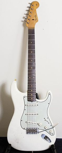 "John Frusciante Collection's - This early-'60s Fender Stratocaster, Frusciante says, is ""…a cool guitar, but it has too much limitation for me. It's the kind of guitar you can have some fun on, but it's not really practical."""