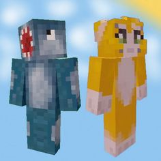 Stampy and Squid-my fav minecraft youtubers! (Squid, on the left, Stampy, on the right)