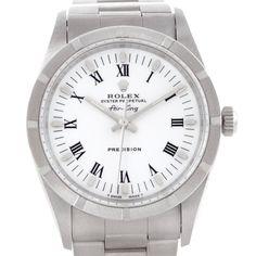Rolex Air King Steel Mens White Dial Watch 14010 Unworn