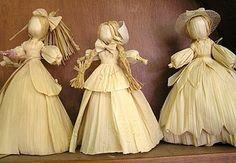 Corn Husk Dolls for Sale Clay Dolls, Art Dolls, Corn Husk Crafts, Corn Dolly, Corn Husk Dolls, Clothespin Dolls, Crepe Paper Flowers, Mabon, Nature Crafts