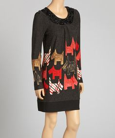 Take a look at this Black & Red Scottie Dog Dress by Aryeh on #zulily today! $30 !!