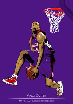 I just learning about vector illustration, and my object for this artwork is NBA Slamdunk Contest Winner which on my sight they're the best contestant. The story of this artwork is, i just read Batman Hush Comic, then i was amazed by how Jim Lee draw hi… Nba Basketball, Basketball Legends, Sports Basketball, Nba Pictures, Basketball Pictures, Slam Dunk, Toronto Raptors, Basketball Photography, Nba Wallpapers