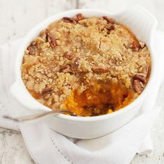 Roasted Butternut Squash with Crunchy Pecan Topping.
