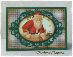 Handmade Greeting Card Santa Claus Card by DidiLandCrafts on Etsy