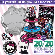 Attention All Ghouls…Wilton Goes Goth with Monster High™! Our newest character line is so cute it's scary!