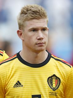 Kevin De Bruyne of Belgium during the 2018 FIFA World Cup Play-off for third place match between Belgium and England at the Saint Petersburg Stadium on June 2018 in Saint Petersburg, Russia(Photo by VI Images via Getty Images) Manchester City, Sergio Aguero, Kun Aguero, Message For Dad, International Football, Blonde Guys, Super Sport, Fifa World Cup, Cristiano Ronaldo