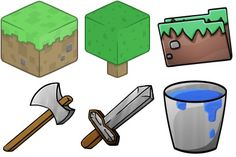 Diamond Sword Icon | Minecraft Iconset | ChrisL21
