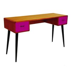 Mid-century colour drawer desk from Artisanti | Dressing tables | housetohome.co.uk