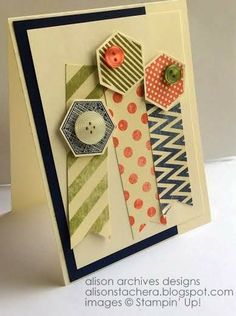Stampin Up! Six Sided Sampler, Etcetera DSP, Birthday Card, all-occasions card