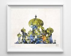 Aladdin Print Watercolor Agrabah Disney Palace by InkistPrints - Shipping Worldwide! [Click Photo for Details]